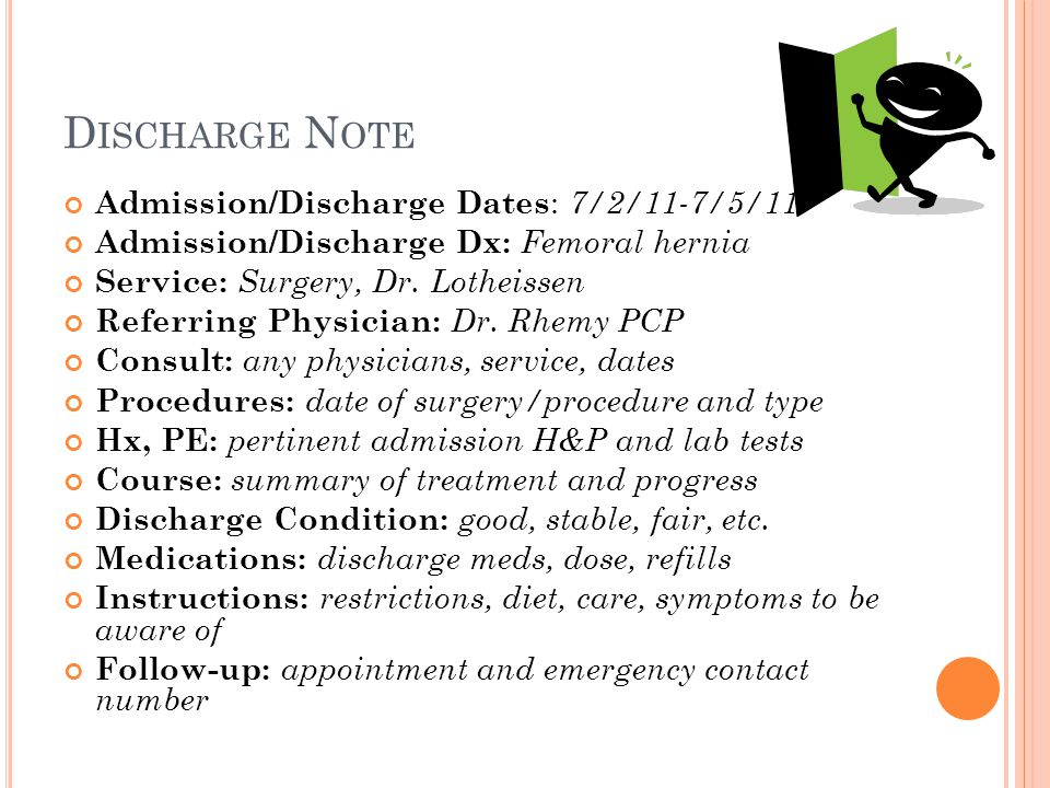 Discharge Note Admission/Discharge Dates: 7/2/11-7/5/11