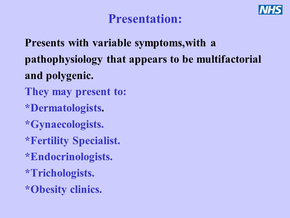 Presentation: Presents with variable symptoms,with a