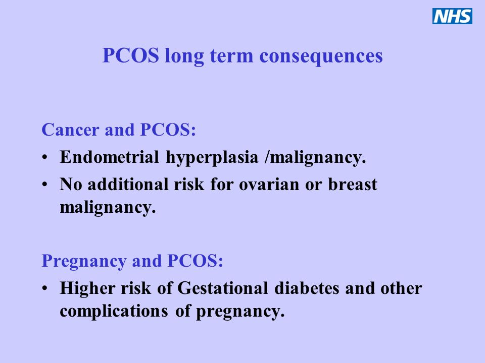 PCOS long term consequences