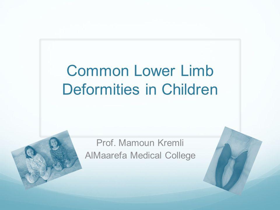 Common Lower Limb Deformities in Children