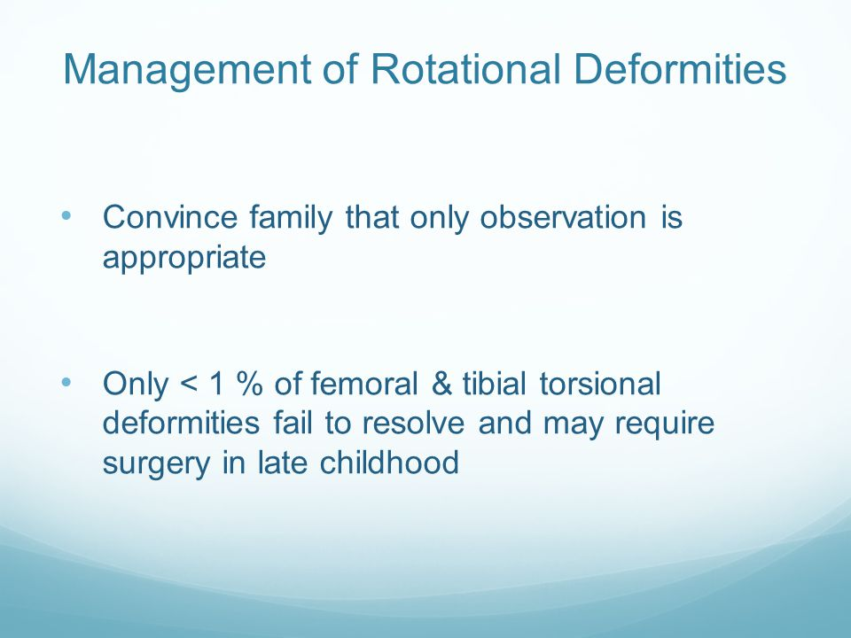 Management of Rotational Deformities