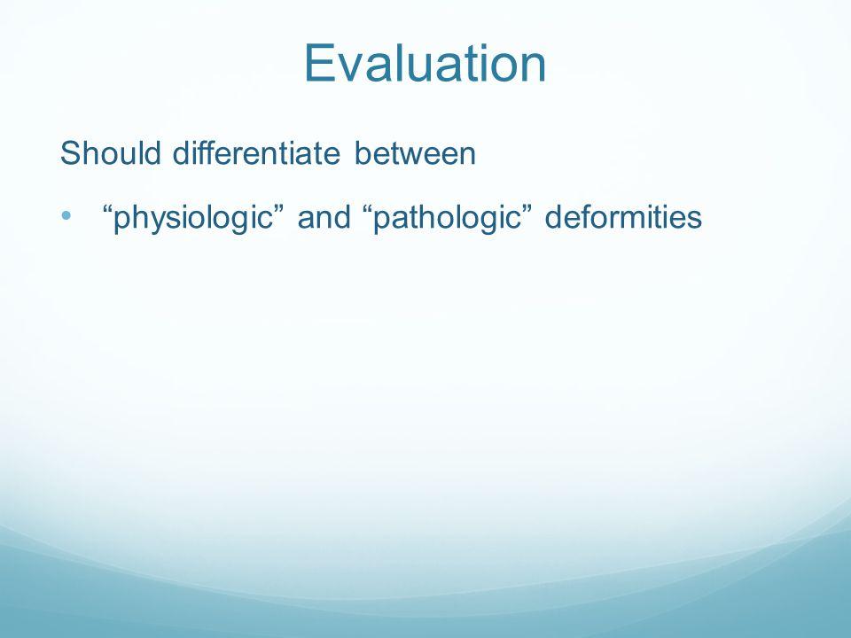 Evaluation Should differentiate between