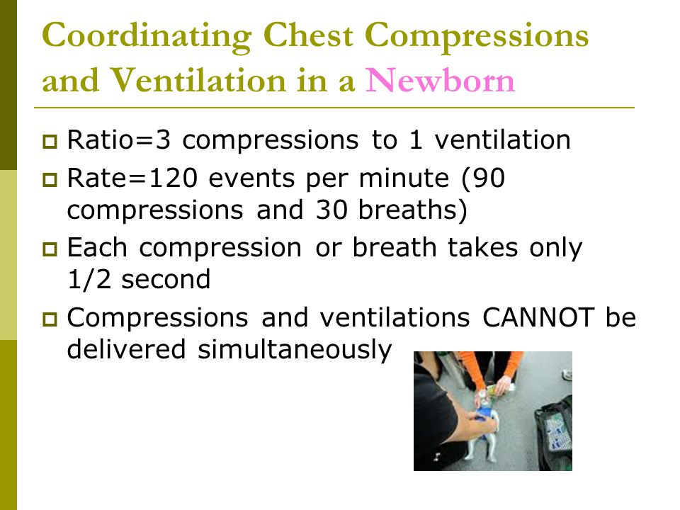 Coordinating Chest Compressions and Ventilation in a Newborn