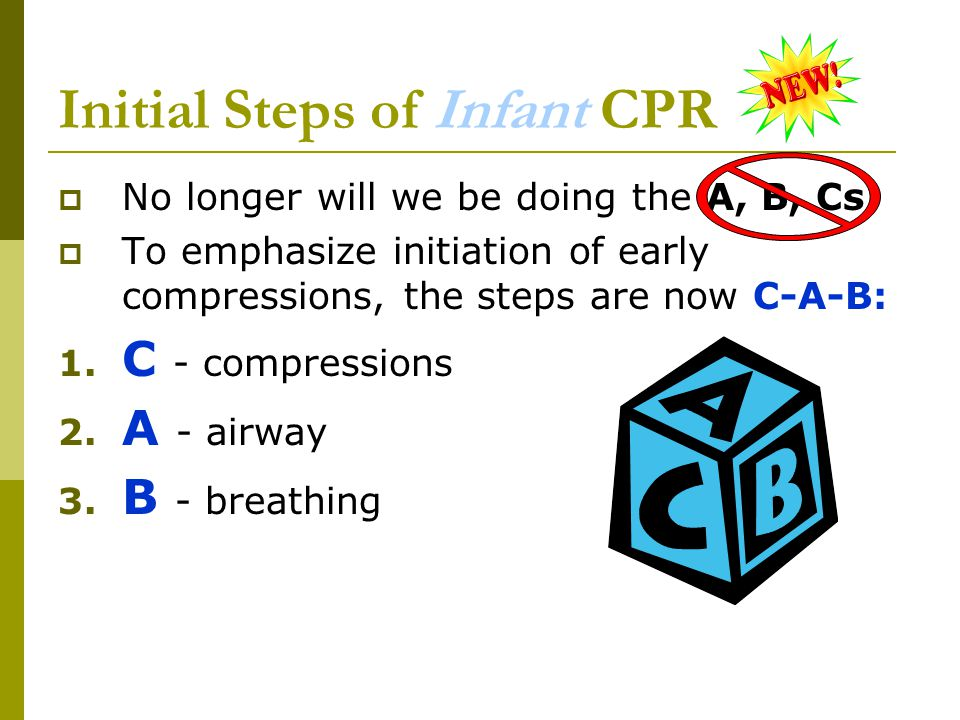 Initial Steps of Infant CPR
