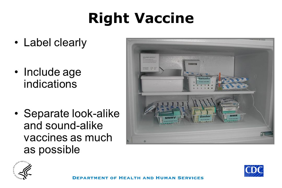 Right Vaccine Label clearly Include age indications