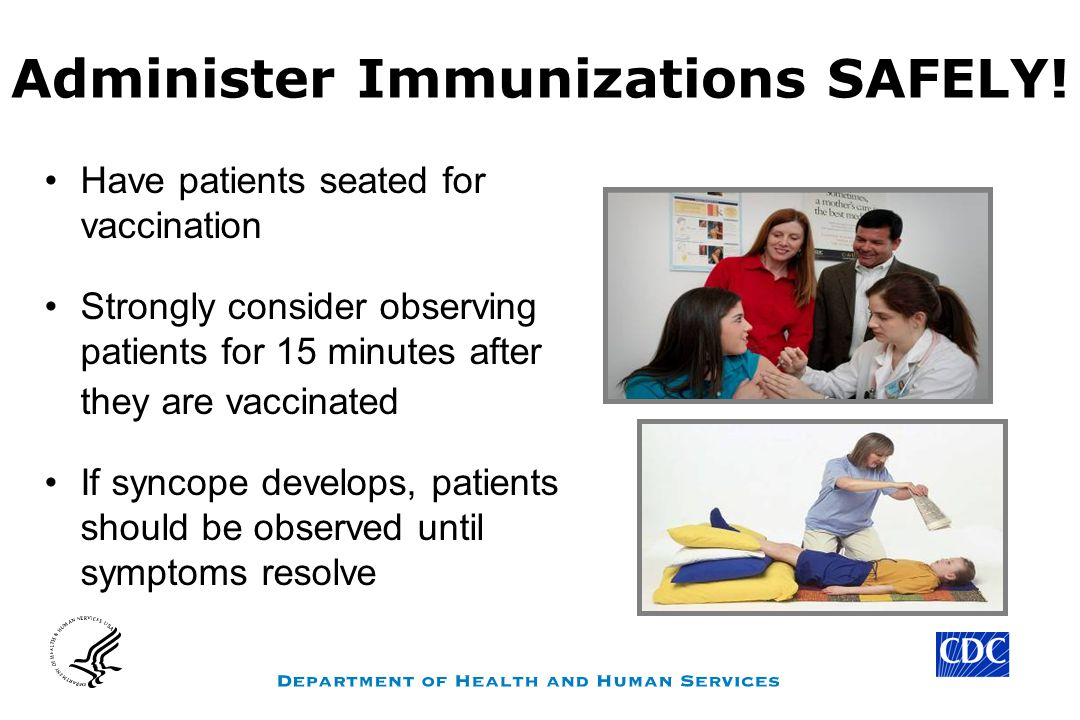 Administer Immunizations SAFELY!