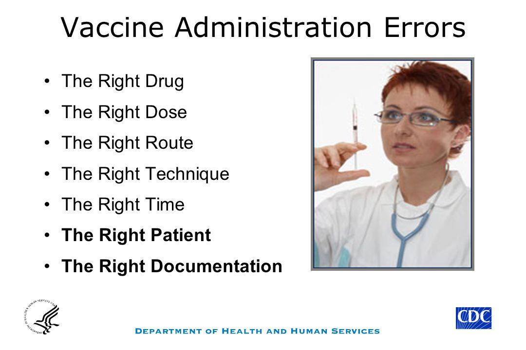 Vaccine Administration Errors