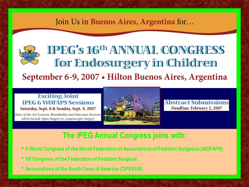 The IPEG Annual Congress joins with: