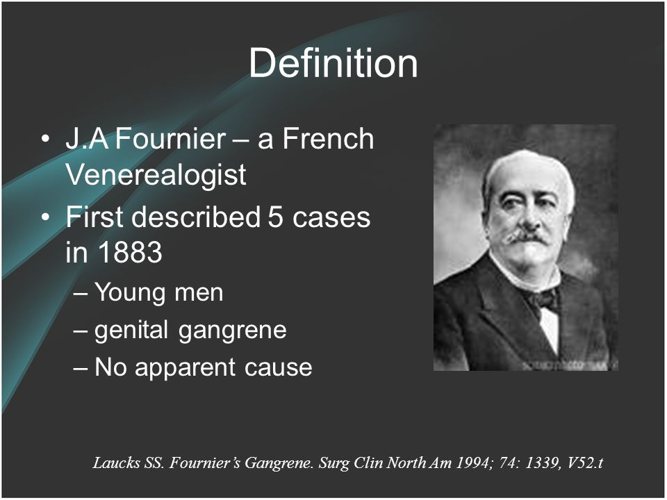 Definition J.A Fournier – a French Venerealogist