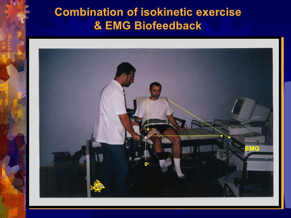 Combination of isokinetic exercise & EMG Biofeedback