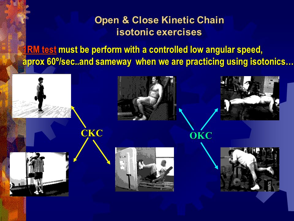 Open & Close Kinetic Chain isotonic exercises