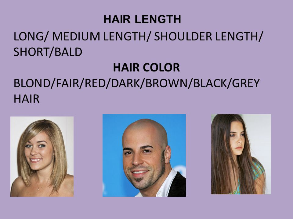 LONG/ MEDIUM LENGTH/ SHOULDER LENGTH/ SHORT/BALD HAIR COLOR