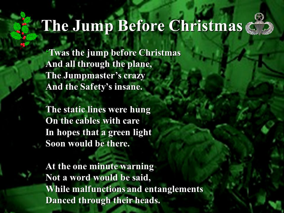 The Jump Before Christmas