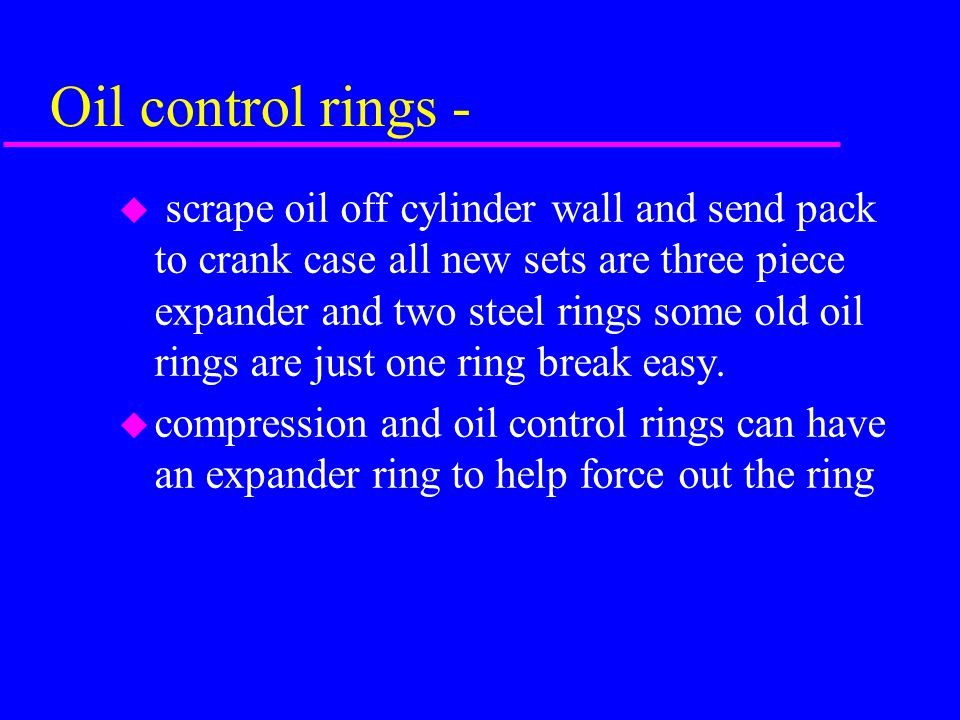 Oil control rings -