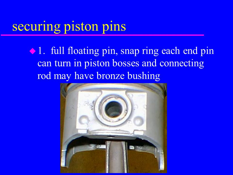 securing piston pins 1.