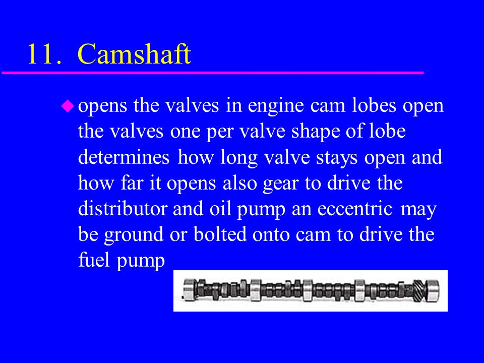 11. Camshaft