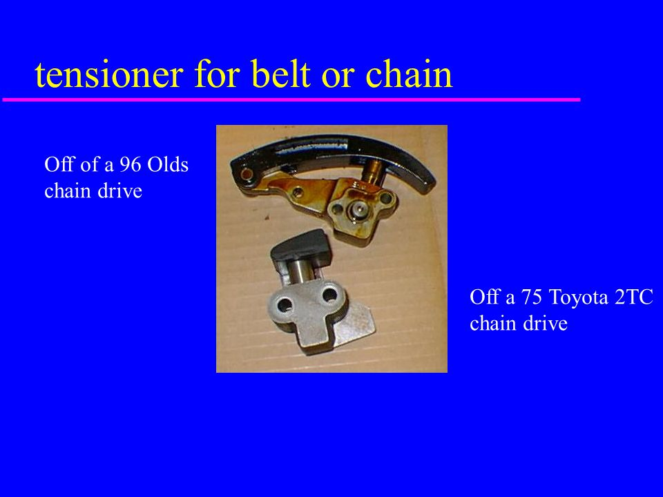 tensioner for belt or chain