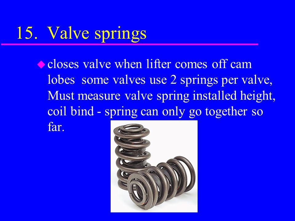 15. Valve springs