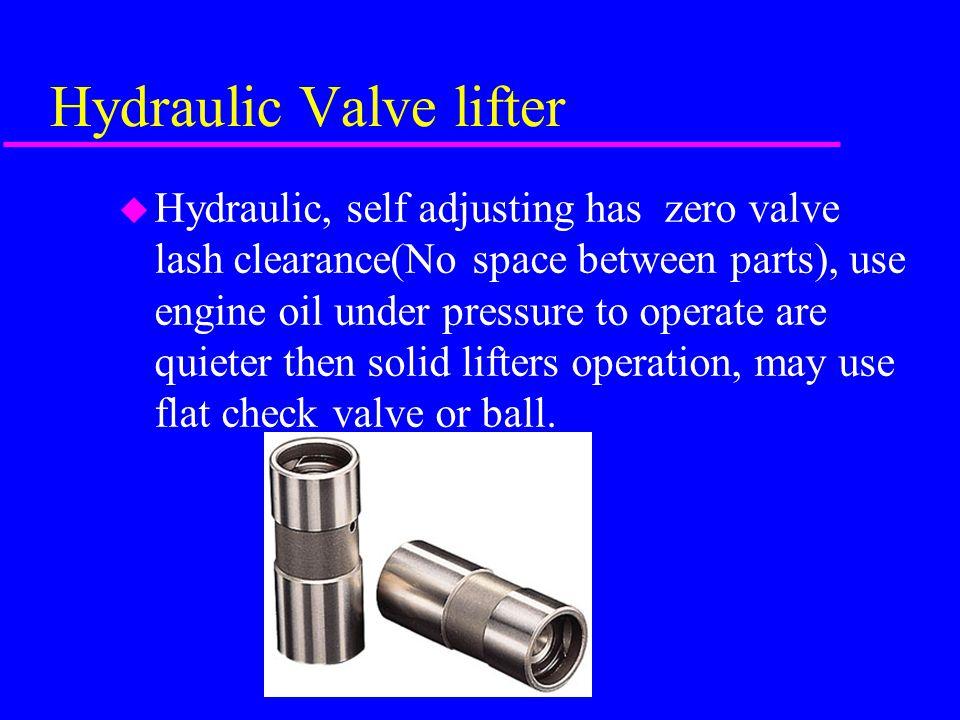 Hydraulic Valve lifter