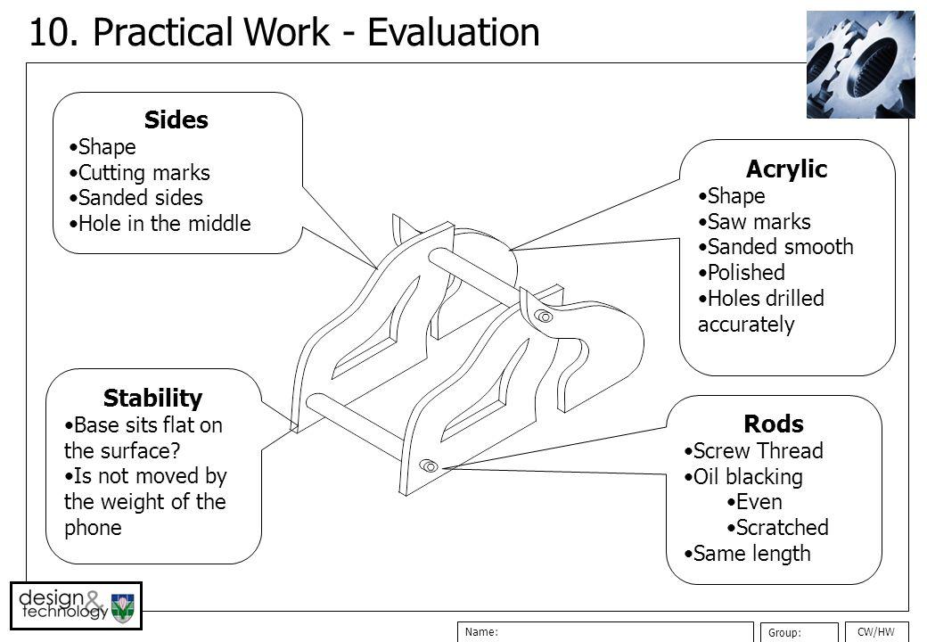 10. Practical Work - Evaluation
