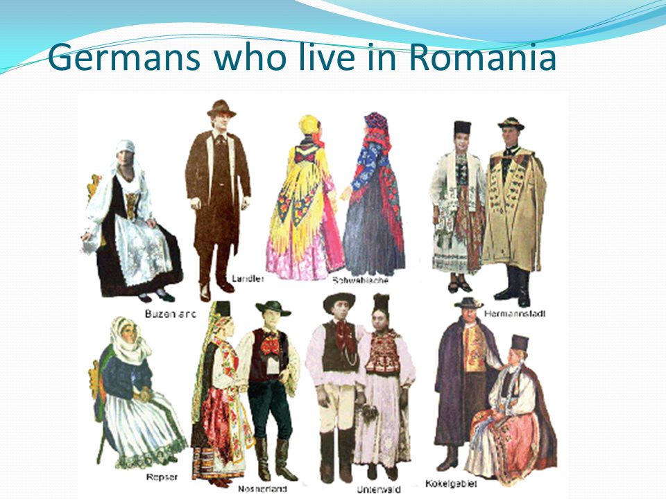Germans who live in Romania
