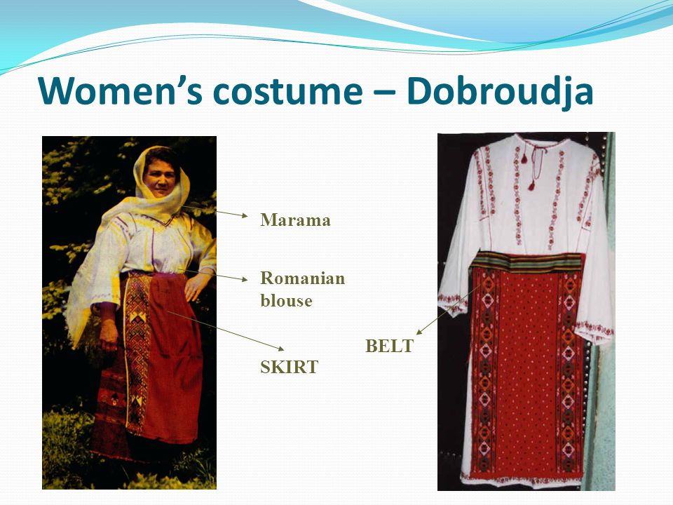 Women's costume – Dobroudja
