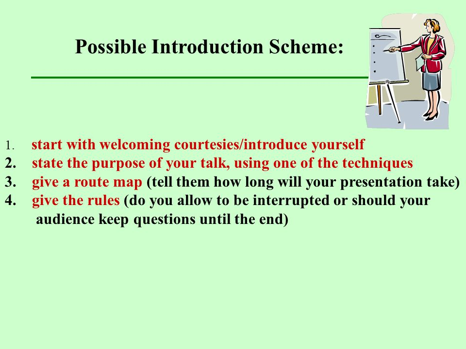 Possible Introduction Scheme: