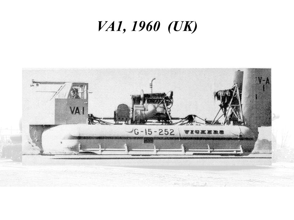 VA1, 1960 (UK) THIS IS VICKERS ARMSTRONG'S FIRST ATTEMPT WITHOUT A SKIRT IN 1960.