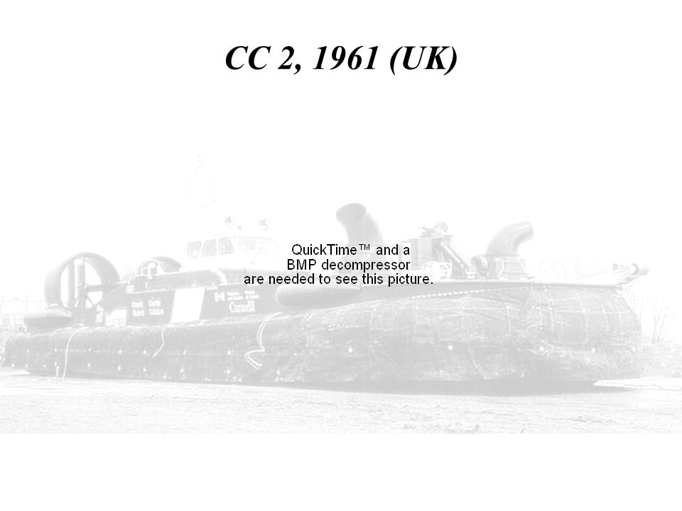CC 2, 1961 (UK) HERE IS VIDEO OF THE CC2 OPERATING OVER LAND WITHOUT A SKIRT.