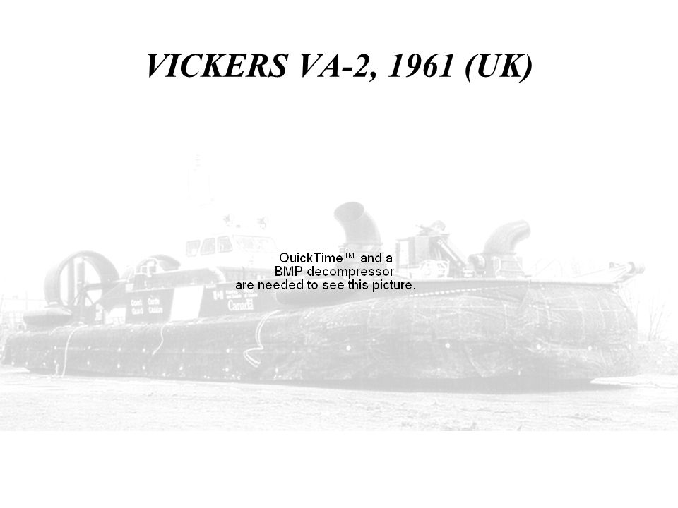 VICKERS VA-2, 1961 (UK) THIS SHOWS THE RESEARCH CRAFT VA-2 BY VICKERS.