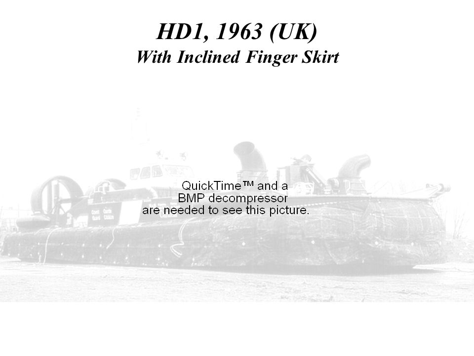 HD1, 1963 (UK) With Inclined Finger Skirt