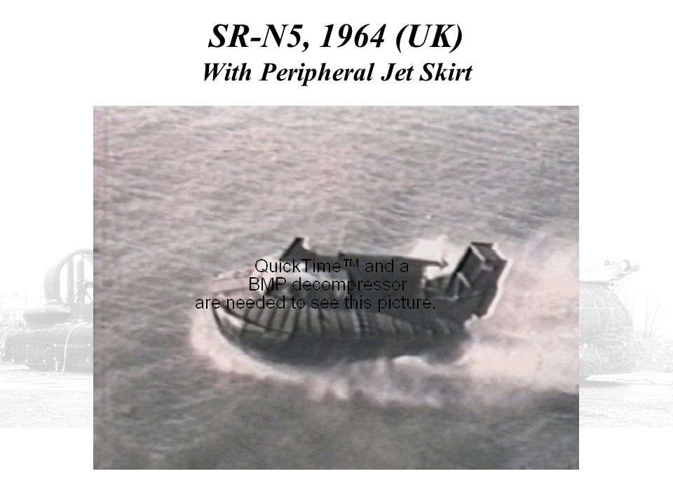 SR-N5, 1964 (UK) With Peripheral Jet Skirt