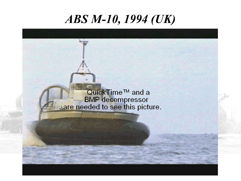 ABS M-10, 1994 (UK) THIS IS THE 50-KNOT ABS M-10, FIRST LAUNCHED IN 1994, WITH A HULL OF ADVANCED COMPOSITES.