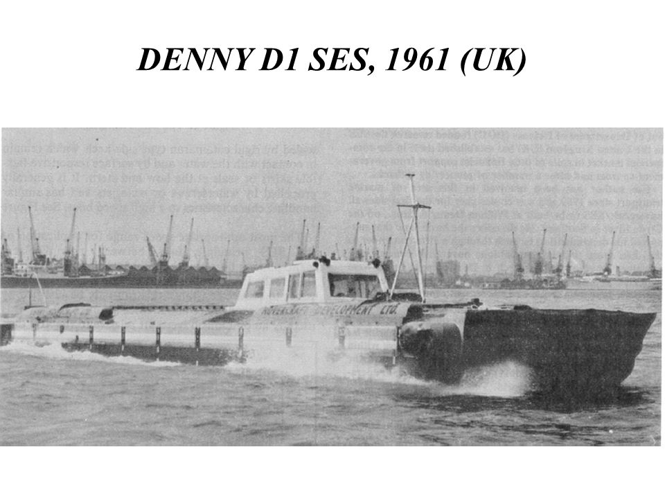 DENNY D1 SES, 1961 (UK) WE NOW TURN TO SES.