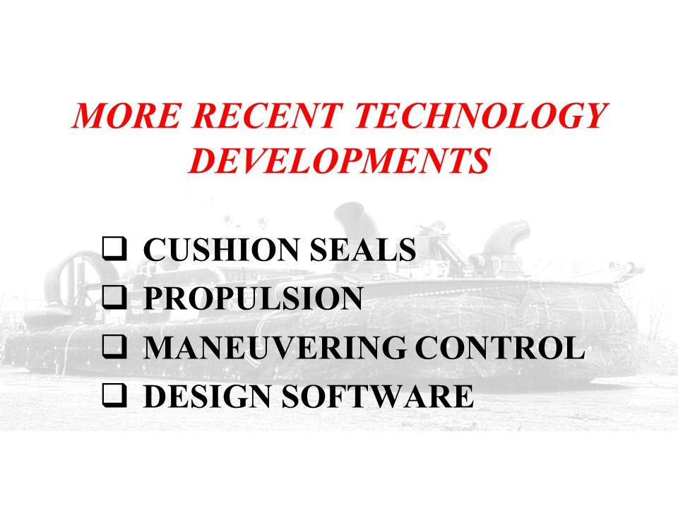 MORE RECENT TECHNOLOGY DEVELOPMENTS