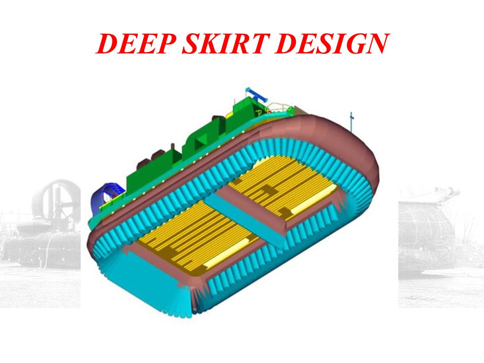 DEEP SKIRT DESIGN IN THE MID 1990s, THE U.S. NAVY HAD AN EMERGING REQUIREMENT FOR SURF-ZONE MINE COUNTERMEASURES USING THE LCAC.