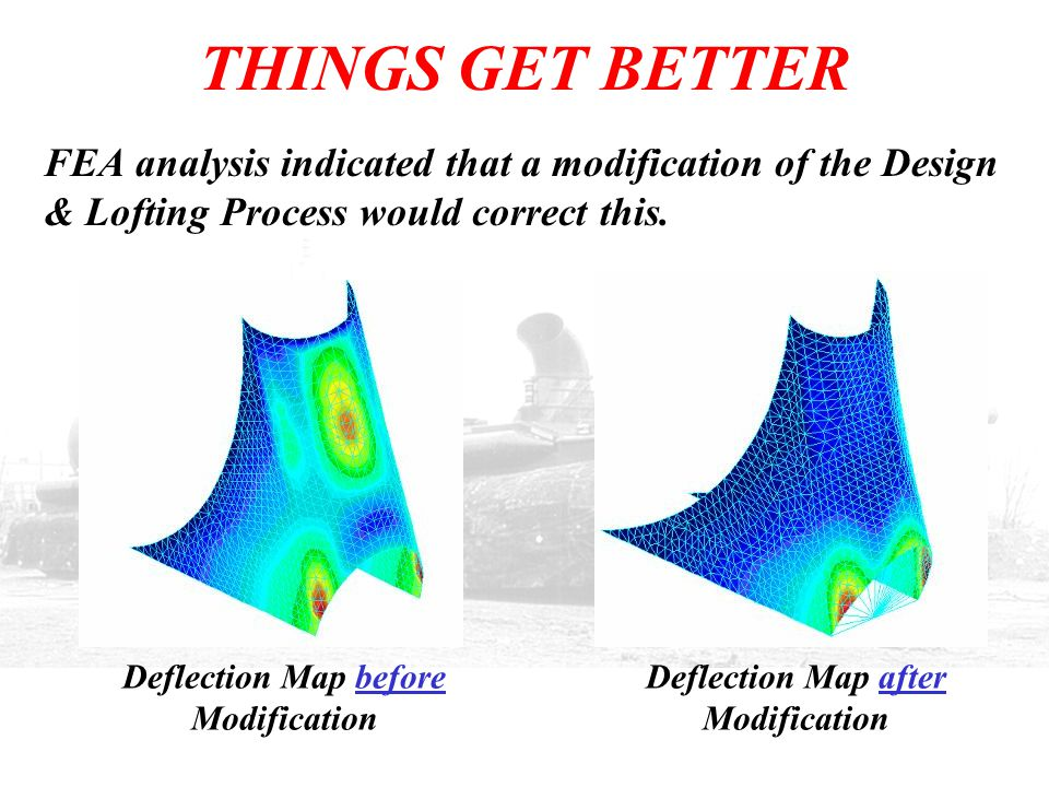 Deflection Map before Modification Deflection Map after Modification