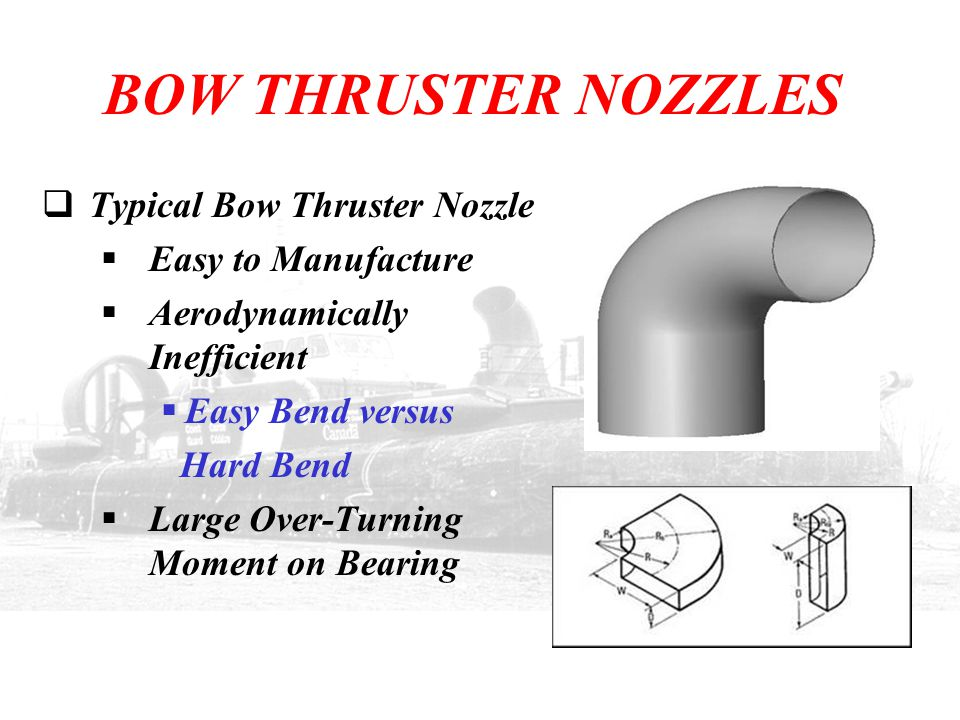 BOW THRUSTER NOZZLES Typical Bow Thruster Nozzle Easy to Manufacture