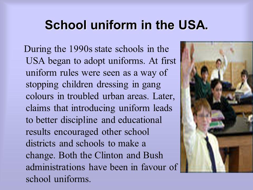 School uniform in the USA.