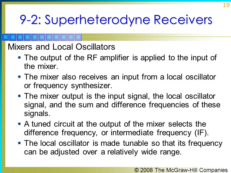 9-2: Superheterodyne Receivers