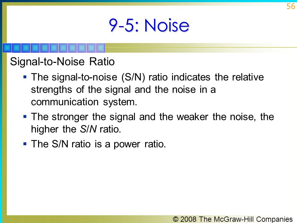 9-5: Noise Signal-to-Noise Ratio