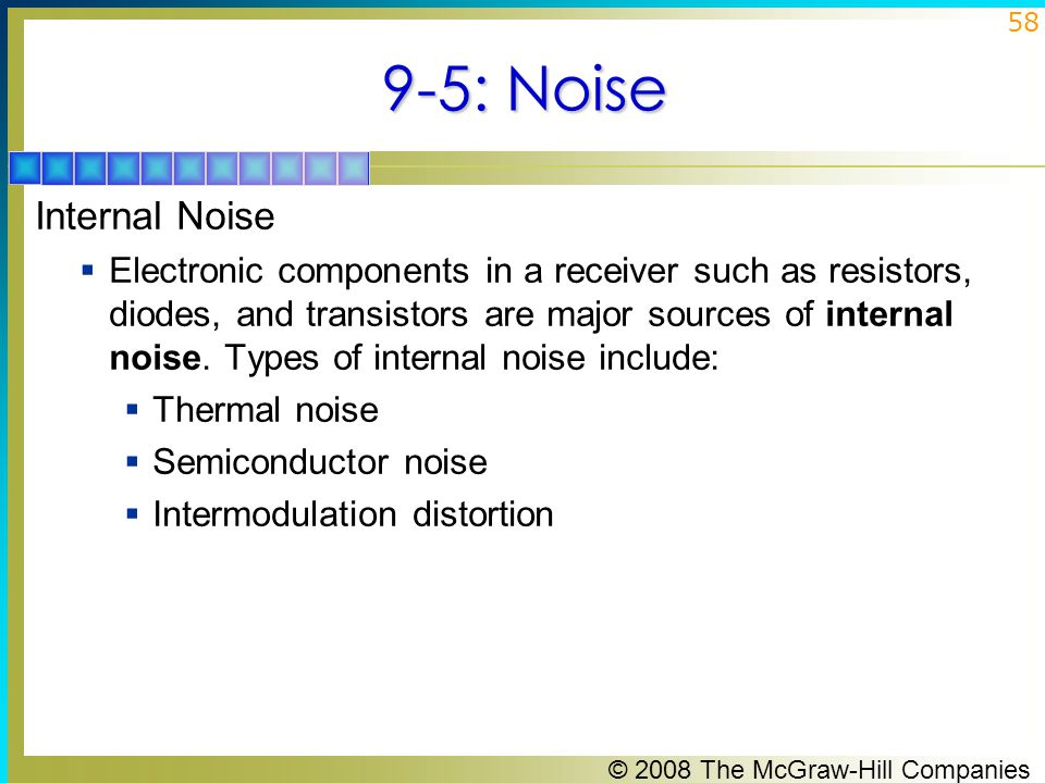 9-5: Noise Internal Noise