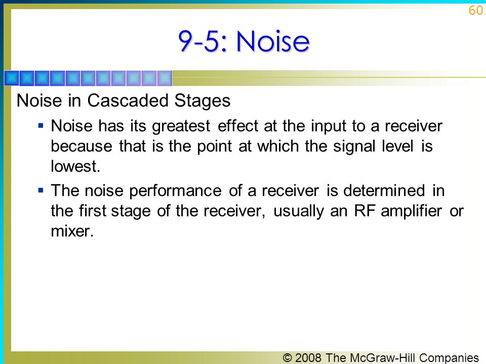 9-5: Noise Noise in Cascaded Stages