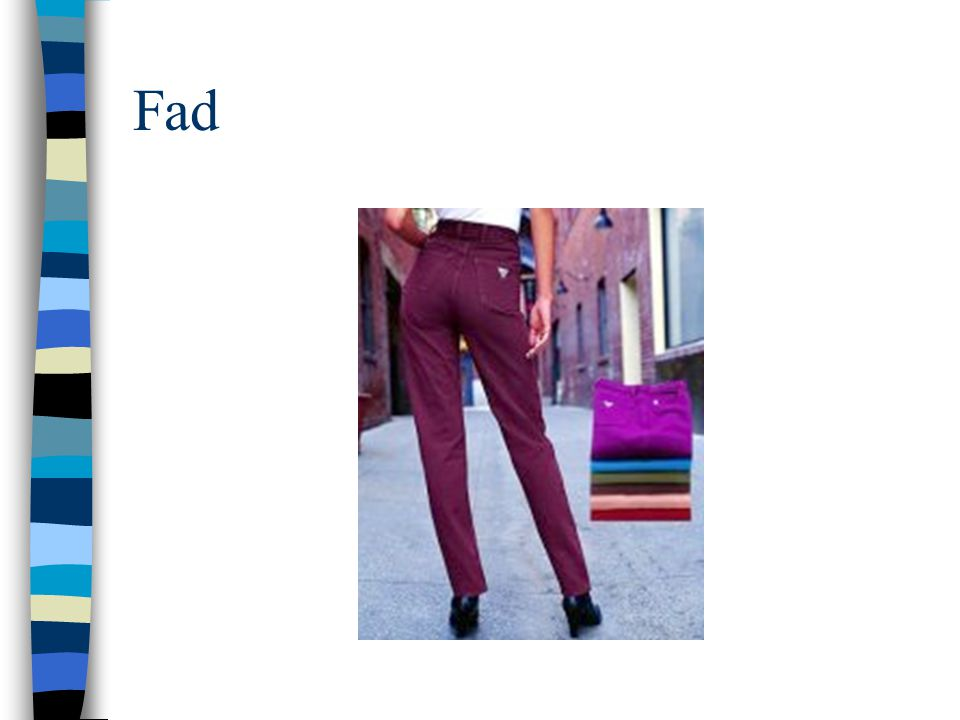Fad Colored jeans from the early 90's
