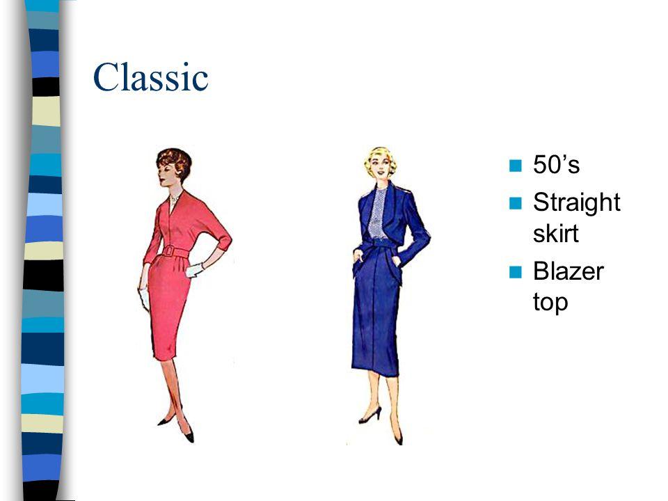 Classic 50's Straight skirt Blazer top 50's