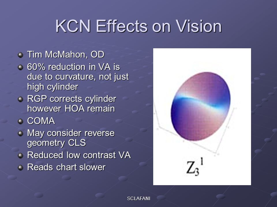 KCN Effects on Vision Tim McMahon, OD