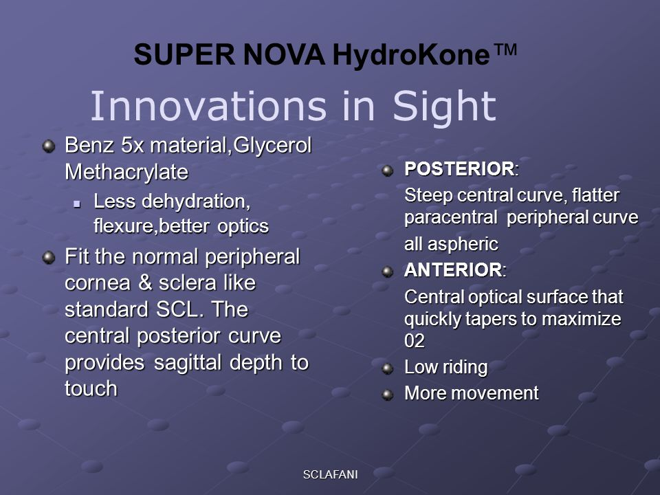 Innovations in Sight SUPER NOVA HydroKone™