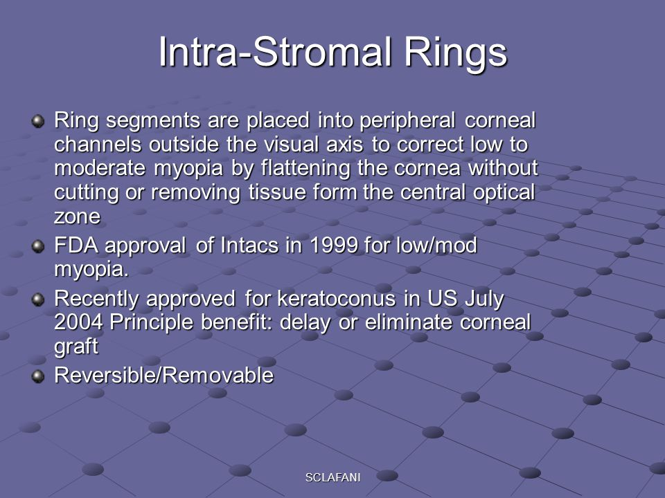 Intra-Stromal Rings