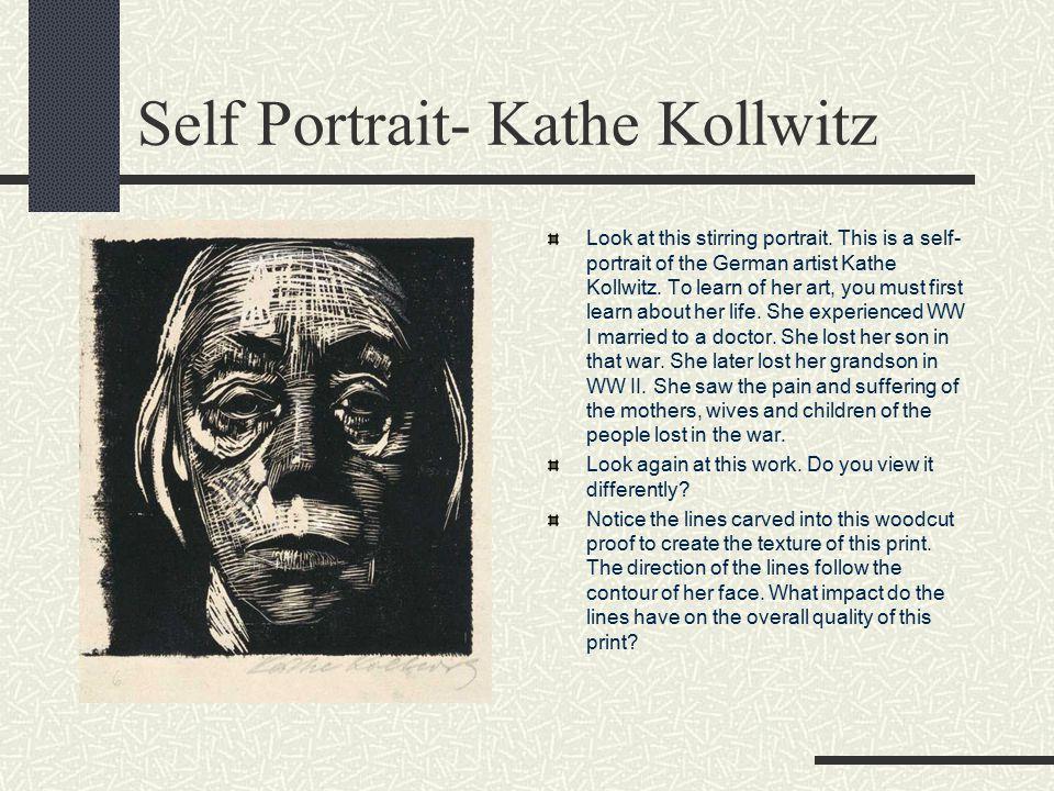 Self Portrait- Kathe Kollwitz