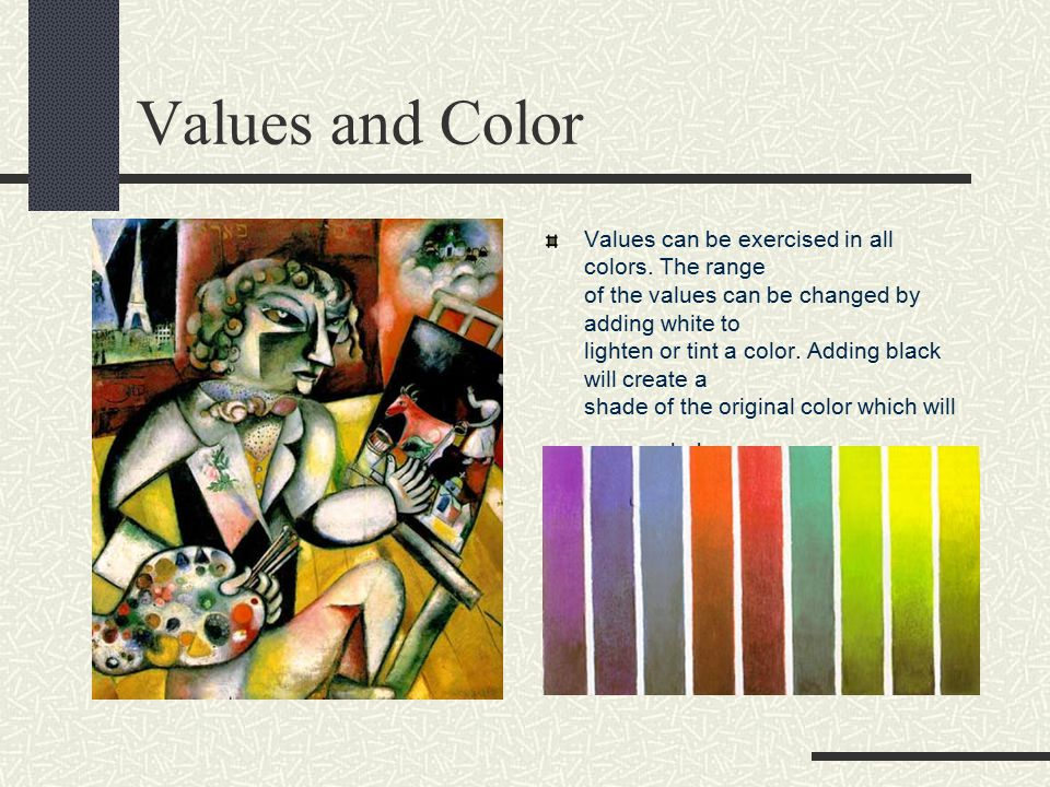 Values and Color